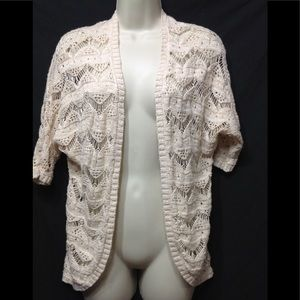 Junior's size XS PINK REPUBLIC open weave cardigan
